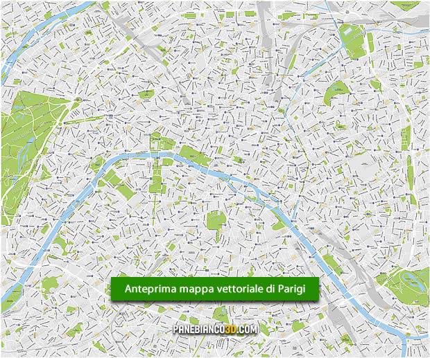 Cartina Citta Di Parigi.Mappa Vettoriale Della Citta Di Parigi Mappa Modificabile In Formato Eps E Ai