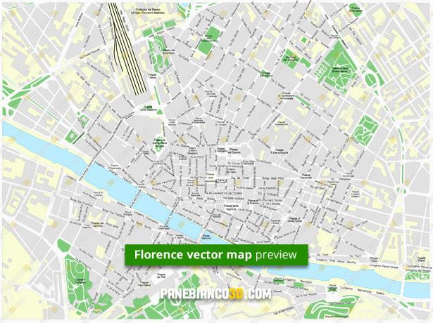 Cartina Italia Modificabile.Mappa Di Firenze In Formato Vettoriale Ad Alta Risoluzione Editabile