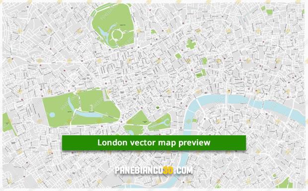 Zone Di Londra Cartina.Mappa Di Londra In Formato Vettoriale Ad Alta Risoluzione
