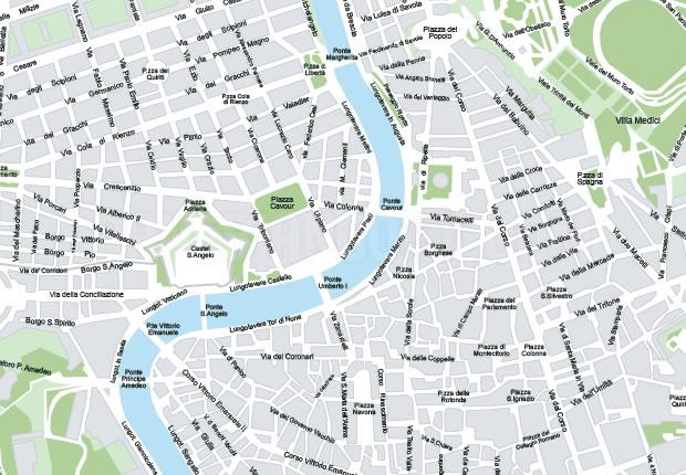 Cartina Roma Piazza Navona.Mappa Di Roma In Formato Vettoriale Ad Alta Risoluzione
