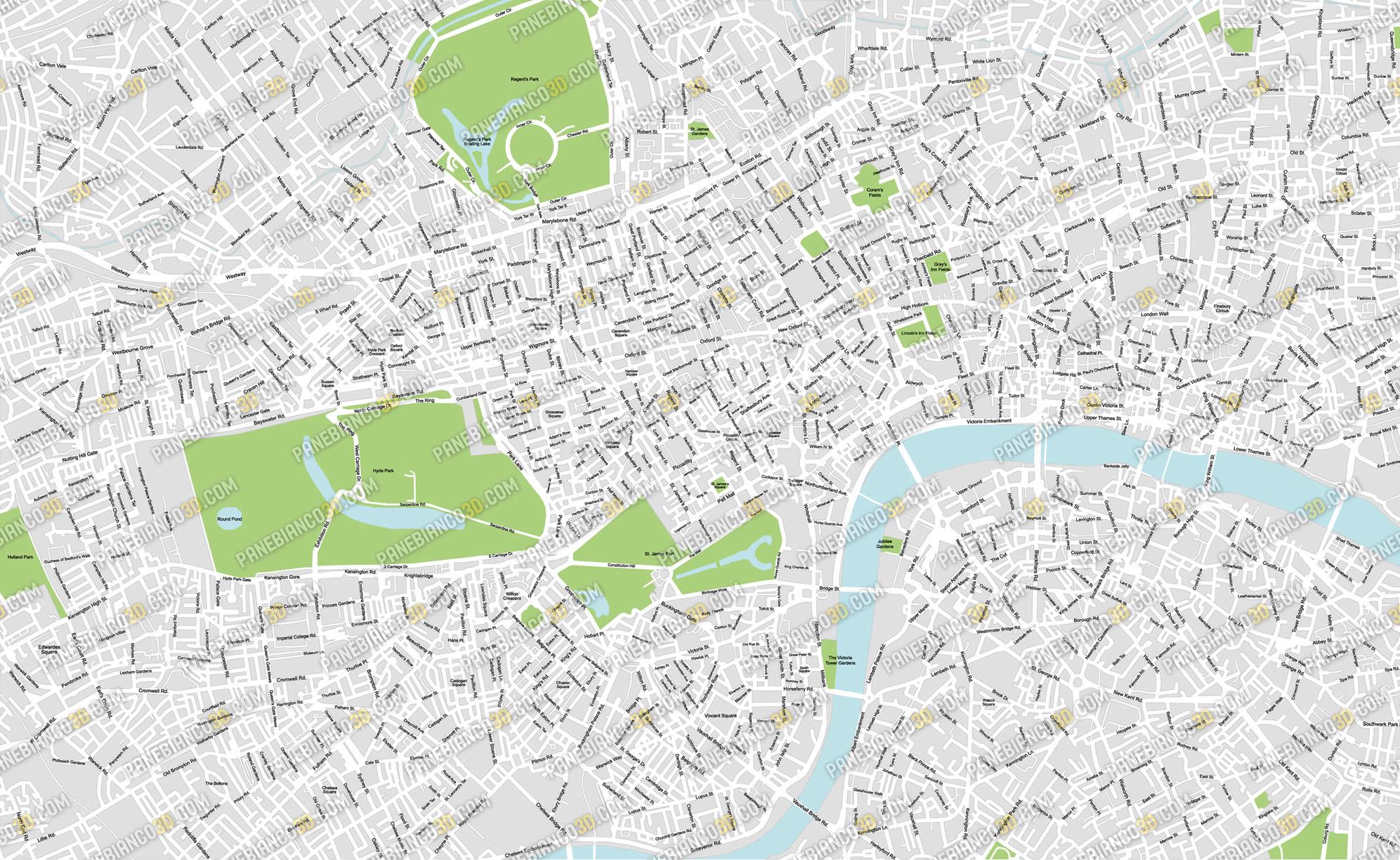 Londra Cartina.Mappa Di Londra In Formato Vettoriale Ad Alta Risoluzione
