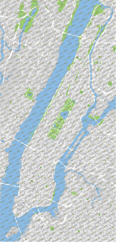 Map Of New York Manhattan In Vector Format Highresolution - New york map eps